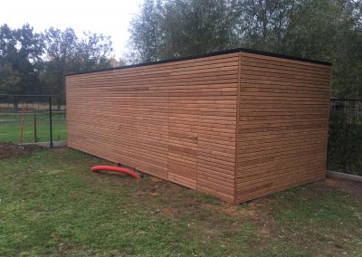 Tuinhuis Thermowood paralel