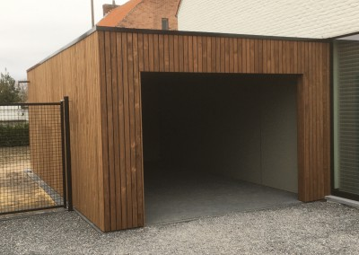 Carport en Tuinhuis in thermo radiata pine